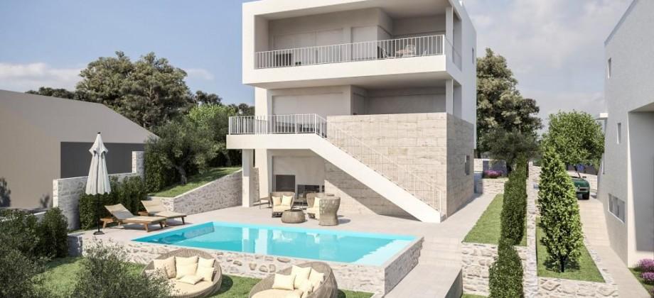 Moderna vila sa bazenom 2. Red od mora